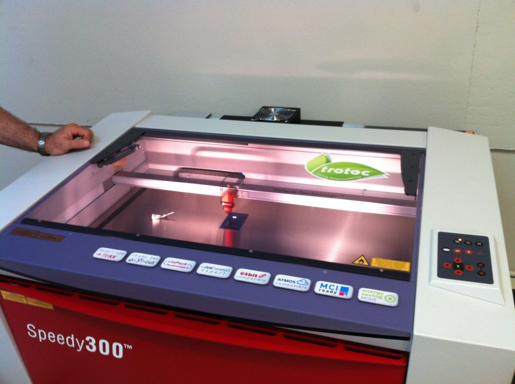 trotec speedy laser cutting and engraving machine