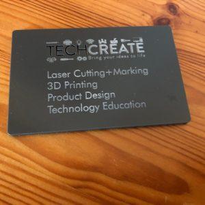 Laser cut acrylic business card