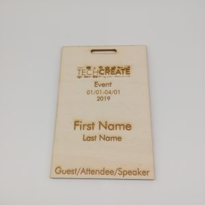plywood custom event badges